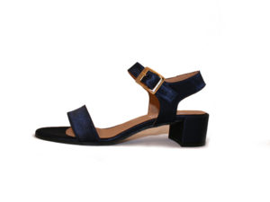 #1227 Vegan Satin Block Heel Sandal by Cosi Cosi