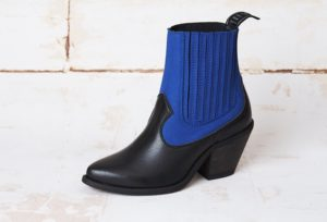 Dizzy Black Blue Vegan suede-Leather